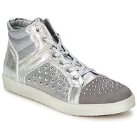 Schuhe Damen Sneaker High Hip 90CR Silber-Krokodil
