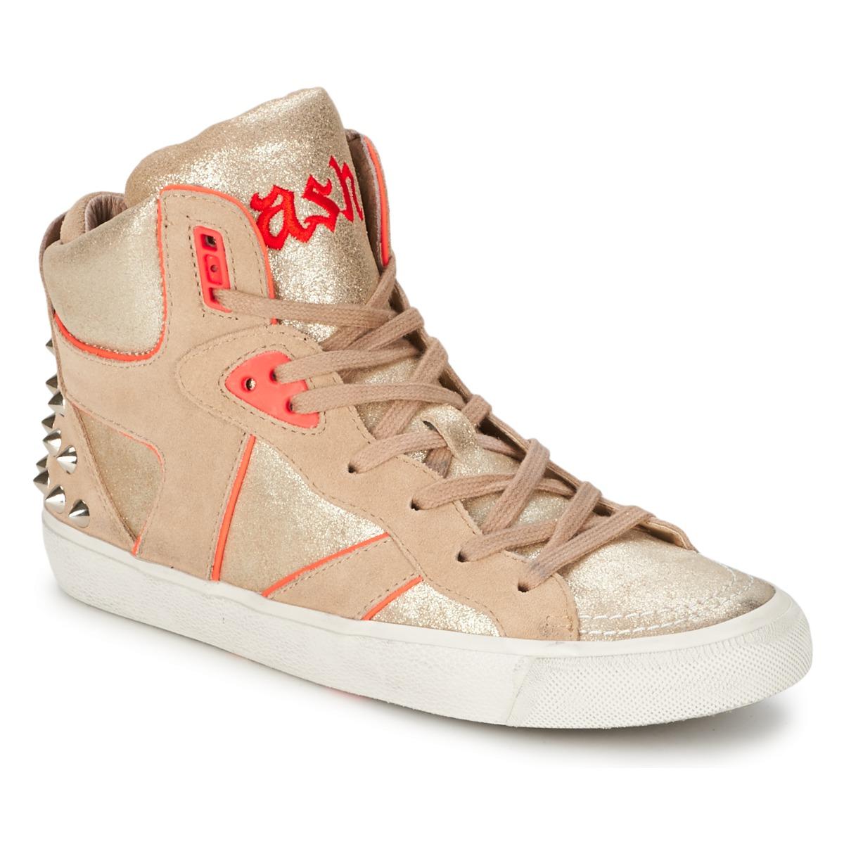 Ash SPIRIT Beige / Rose - Kostenloser Versand bei Spartoode ! - Schuhe Sneaker High Damen 99,50 €