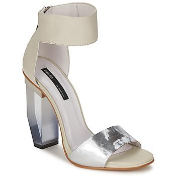 Schuhe Damen Sandalen / Sandaletten Miista JAYDA Weiss / Silbern
