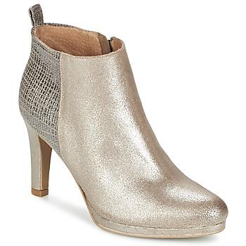 Schuhe Damen Low Boots Myma MARA Silbern