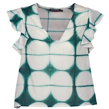 Kleidung Damen T-Shirts Antik Batik BAB Weiss / Grün