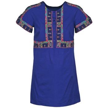 Kleidung Damen Kurze Kleider Antik Batik EMILIE Marine
