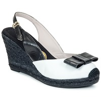 Schuhe Damen Sandalen / Sandaletten RAS FROI Schwarz / Weiss