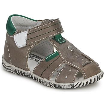Schuhe Jungen Sandalen / Sandaletten Primigi QUINCY Grau / Grün