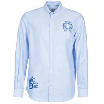 Kleidung Herren Langärmelige Hemden Serge Blanco ANTONIO Blau