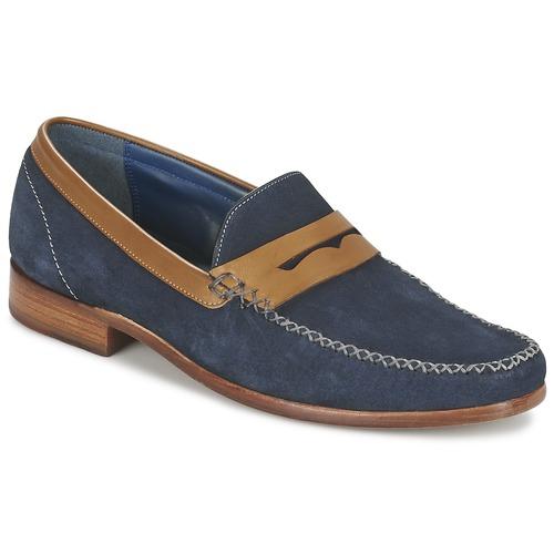 Schuhe Herren Slipper Barker WILLIAM Marine