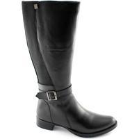 Schuhe Damen Klassische Stiefel Cinzia Soft 2838 Schwarze Frauen Schuhe Stiefel Lederstretch Nero