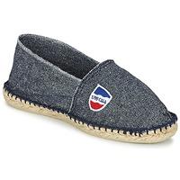 Schuhe Herren Leinen-Pantoletten mit gefloch 1789 Cala CLASSIQUE Blau