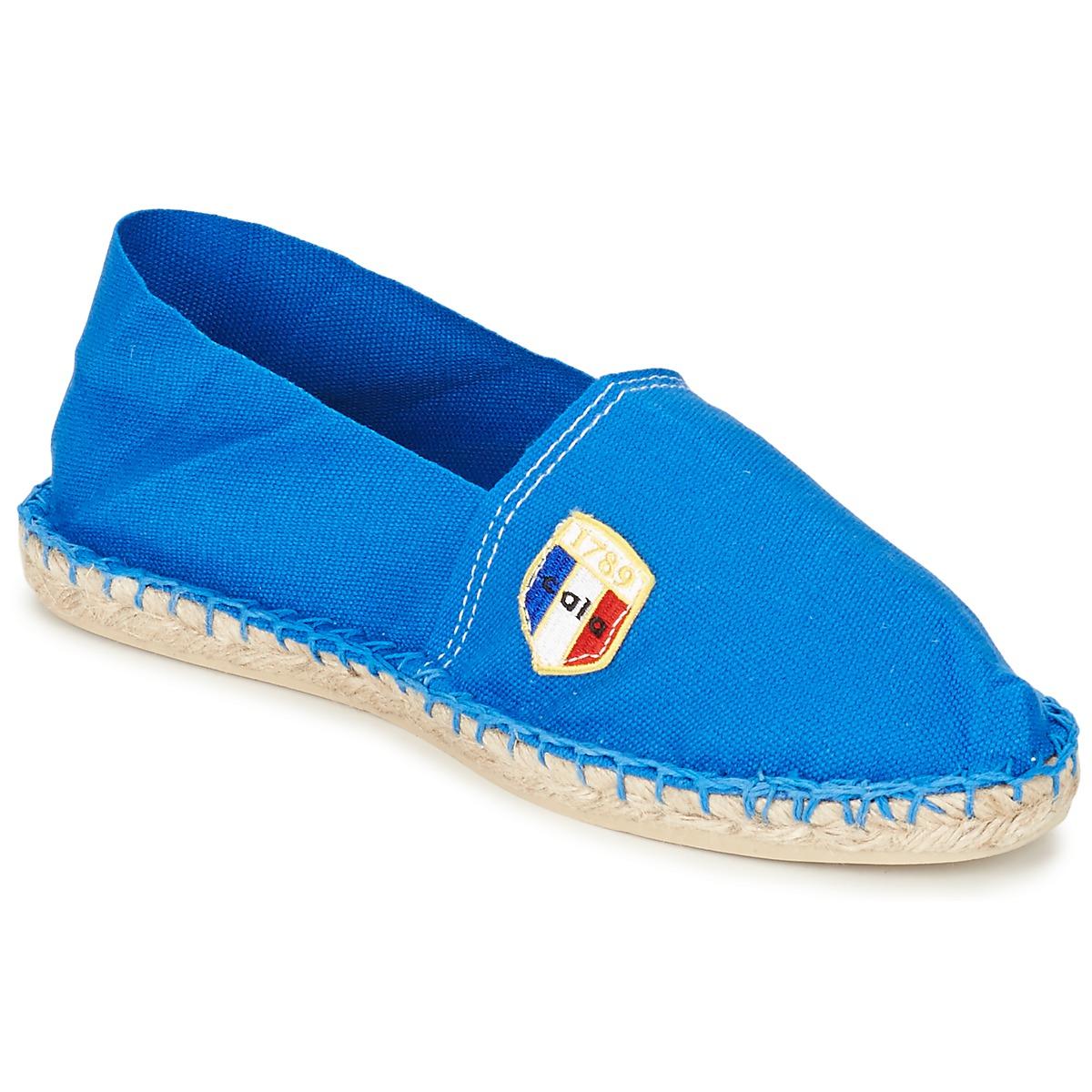 1789 Cala UNIE BLEU Blau - Kostenloser Versand bei Spartoode ! - Schuhe Leinen-Pantoletten mit gefloch  24,49 €