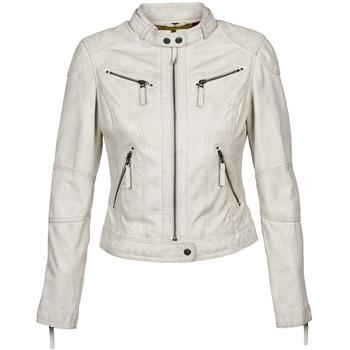 Kleidung Damen Lederjacken / Kunstlederjacken Oakwood 60135 Weiss