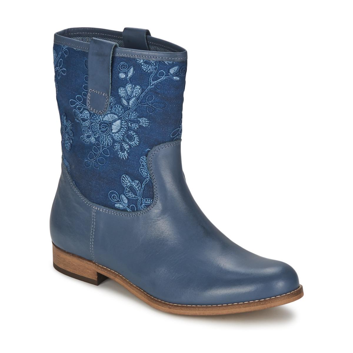 Alba Moda FALINA Blau - Kostenloser Versand bei Spartoode ! - Schuhe Boots Damen 70,00 €