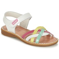 Schuhe Mädchen Sandalen / Sandaletten Pablosky ATINA Weiss / Multifarben