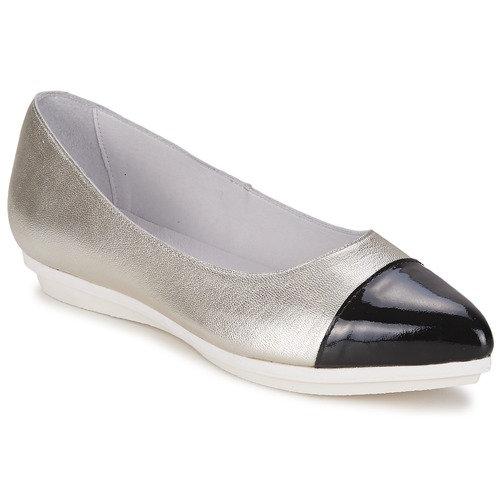 Alba Moda DRINITE Silbern / Schwarz Schuhe Ballerinas Damen 60