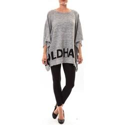 Kleidung Damen Pullover De Fil En Aiguille Poncho DH3122 gris Grau
