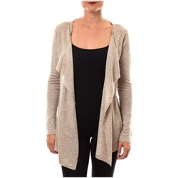 Kleidung Damen Pullover De Fil En Aiguille gilet 2020 taupe Braun