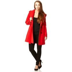 Kleidung Damen Parkas De La Creme parent rote