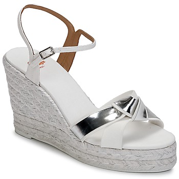 Schuhe Damen Sandalen / Sandaletten Castaner BESSIE Weiss / Silbern