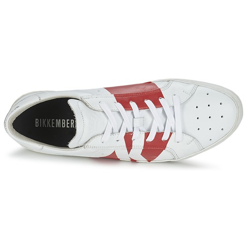 Bikkembergs RUBB-ER 668 LEATHER Weiss / Rot