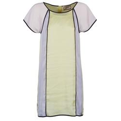 Kleidung Damen Kurze Kleider Chipie FREGENAL Gelb / Grau