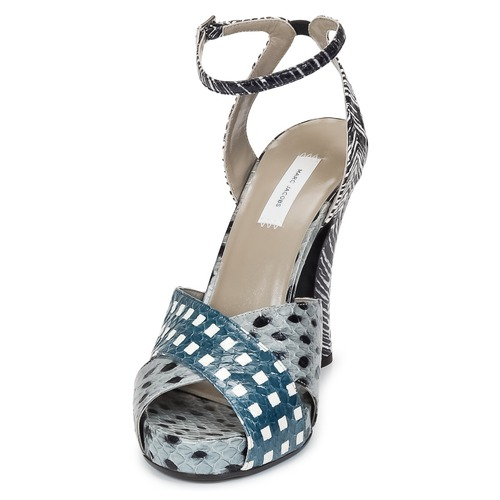 Marc Jacobs Elap Blau / Weiss  Schuhe Sandalen / Sandaletten Damen 500