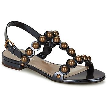 Schuhe Damen Sandalen / Sandaletten Marc Jacobs Vegetal Schwarz