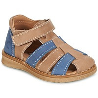 Schuhe Jungen Sandalen / Sandaletten Citrouille et Compagnie FRINOUI Braun / Blau