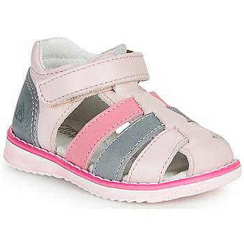 Schuhe Mädchen Sandalen / Sandaletten Citrouille et Compagnie FRINOUI Rose / Blau