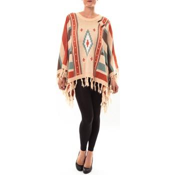 Kleidung Damen Pullover Barcelona Moda Poncho 72473601 beige Beige
