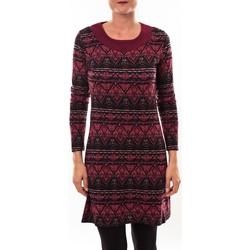 Kleidung Damen Tuniken Barcelona Moda Robe pull 71565011 bordeaux Rot