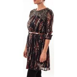 Kleidung Damen Kurze Kleider Barcelona Moda Robe 71525014 noir Schwarz