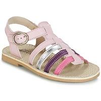 Schuhe Mädchen Sandalen / Sandaletten Citrouille et Compagnie JASMA Rose / Violett