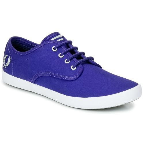 Fred Perry FOXX TWILL Violett  Schuhe Sneaker Low Herren 67,99