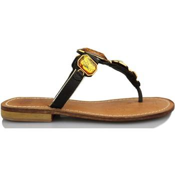 Schuhe Damen Sandalen / Sandaletten Geox Casual Sandalen SCHWARZ