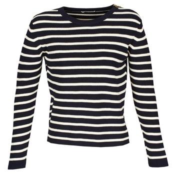 Kleidung Damen Pullover Acquaverde MAS Marine / Naturfarben