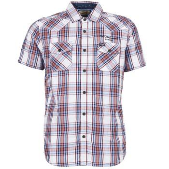 Kleidung Herren Kurzärmelige Hemden Petrol Industries SHIRT SS Weiss / Rot