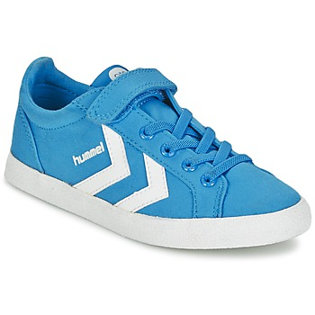 Schuhe Kinder Sneaker Low Hummel DEUCE COURT JR Blau