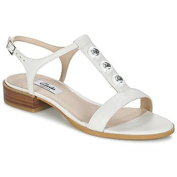 Schuhe Damen Sandalen / Sandaletten Clarks BLISS SHIMMER Weiss
