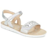 Schuhe Mädchen Sandalen / Sandaletten Clarks MIMOMAGIC JUNIOR Silbern