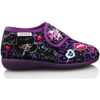 Schuhe Mädchen Hausschuhe Vulladi ALASKA LILA