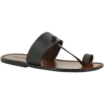 Schuhe Damen Pantoffel Gianluca - L'artigiano Del Cuoio 554 U MORO CUOIO Testa di Moro