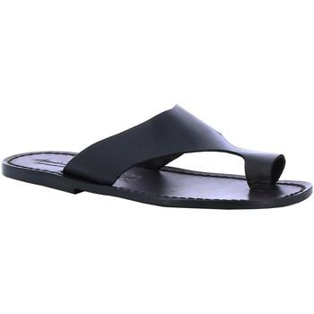 Schuhe Herren Pantoletten Gianluca - L'artigiano Del Cuoio 521 U NERO CUOIO nero
