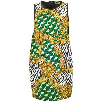 Kleidung Damen Kurze Kleider Versace Jeans NDM909 BIS Schwarz / Multifarben