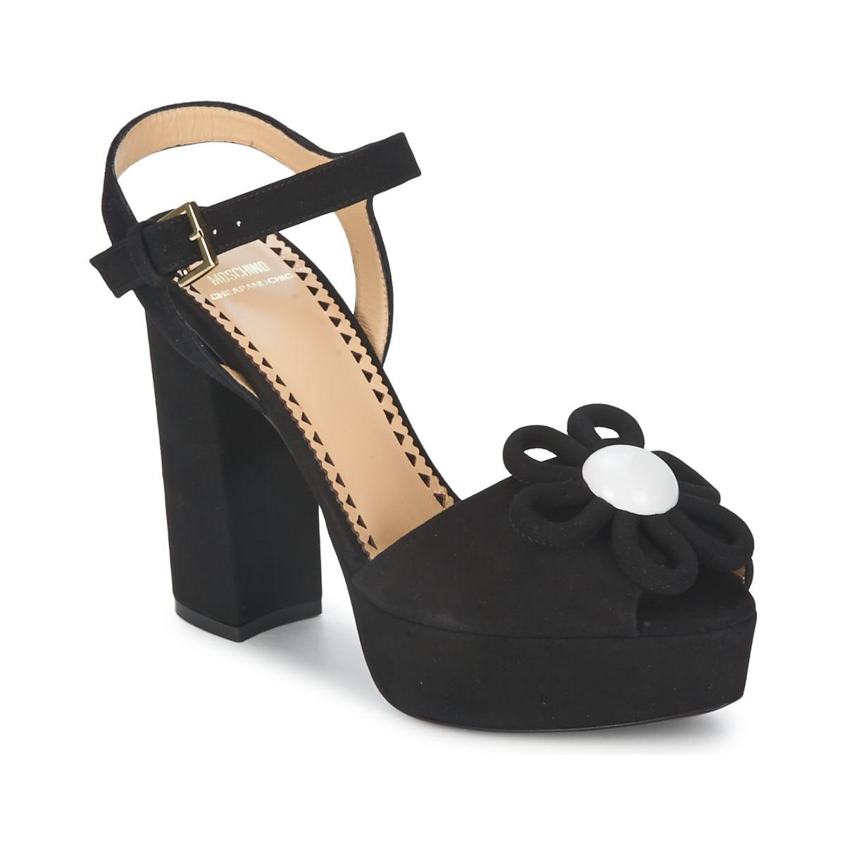 Moschino Cheap & CHIC CA1617 Schwarz - Kostenloser Versand bei Spartoode ! - Schuhe Sandalen / Sandaletten Damen 233,50 €