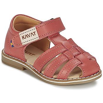 Schuhe Mädchen Sandalen / Sandaletten Kavat FORSVIK Korallenrot