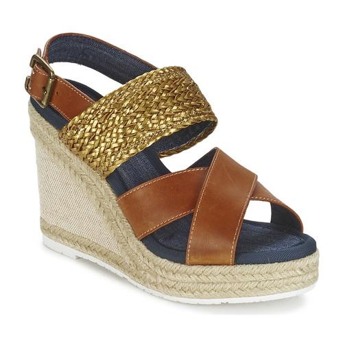Napapijri BELLE Camel / Goldfarben  Schuhe Sandalen / Sandaletten Damen 52,50