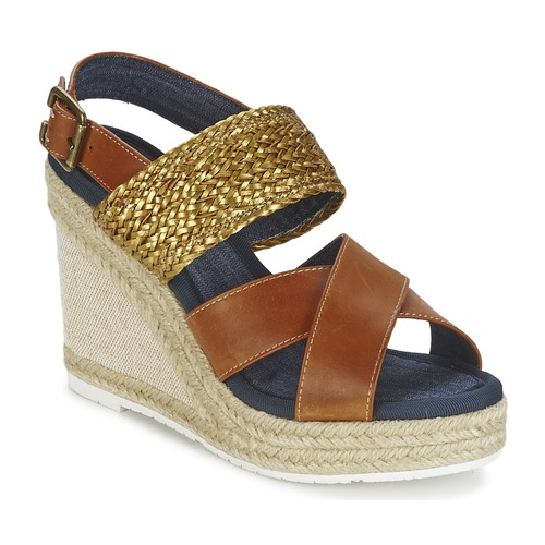 Napapijri BELLE Camel Camel Camel / Goldfarben  Schuhe Sandalen / Sandaletten Damen f40058
