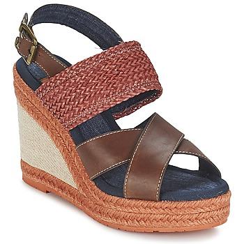 Schuhe Damen Sandalen / Sandaletten Napapijri BELLE Braun / Rot