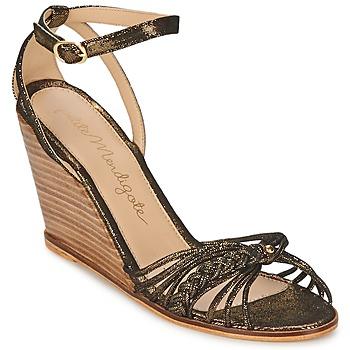 Schuhe Damen Sandalen / Sandaletten Petite Mendigote COLOMBE Schwarz / Gold