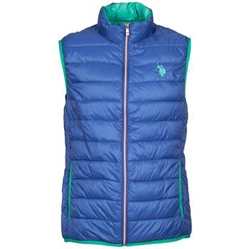 Kleidung Herren Daunenjacken U.S Polo Assn. USPA LT PADDED VEST Blau