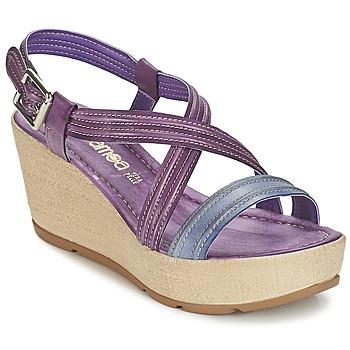 Schuhe Damen Sandalen / Sandaletten Samoa JEBEMA Violett / Blau